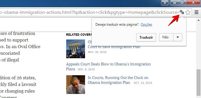Traduzindo uma página com o Chrome (Foto: Reprodução/Helito Bijora)