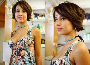 Andréia Horta adota cabelo curtinho para 'fase carioca' de Valéria (Amor Eterno Amor/TV Globo)
