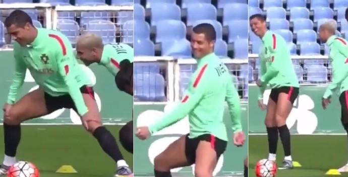 Cristiano Ronaldo dança treino Portugal (Foto: Reprodução Instagram)