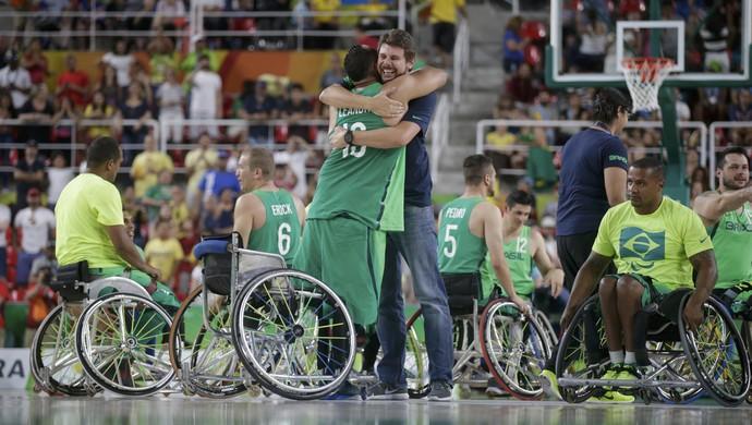 brasil, basquete, masculino, cadeira de rodas (Foto: REUTERS/Ricardo Moraes)