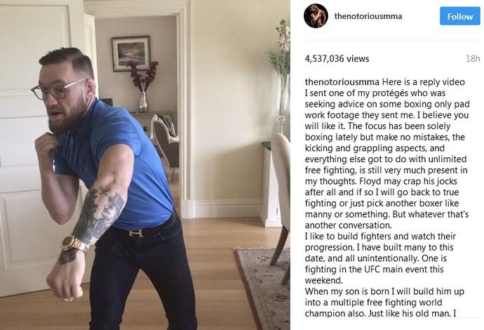 Conor McGregor Instagram (Foto: Reprodução/Instagram)