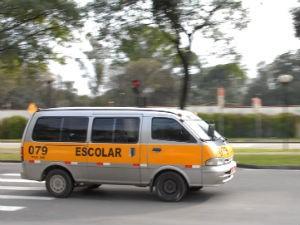 Vans de transporte escolar (Foto: Divulgação/Detran)