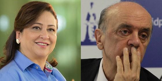 Kátia Abreu e José Serra (Foto: Divulgação)