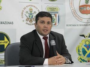 Secretário de Segurança Pública do Amazonas, Sérgio Fontes (Foto: Rickardo Marques/G1 AM)