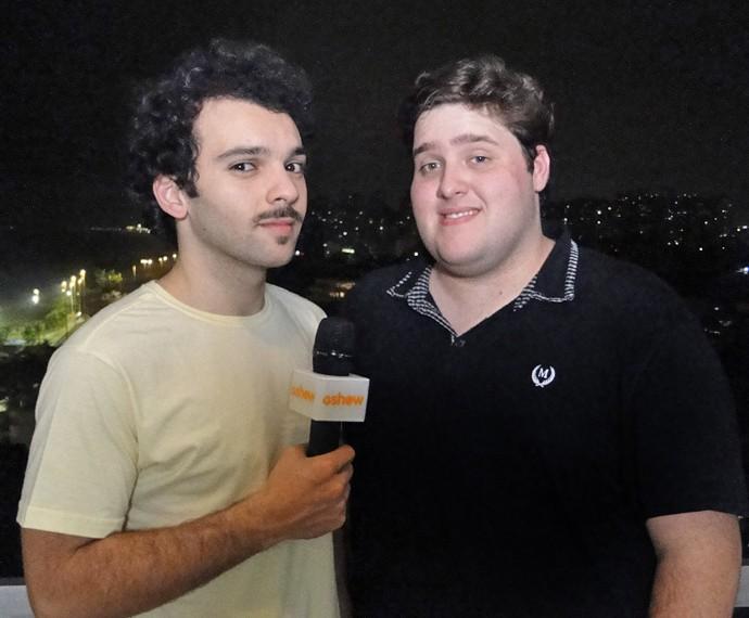 Felipe Hintze recebeu Raphael Ghanem e elenco em sua casa (Foto: Fabio Rosso/ Gshow)