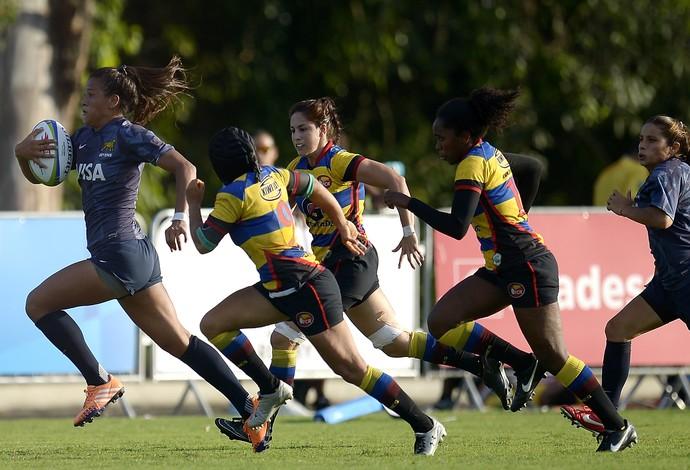 Sofia Gonzalez Argentina Colômbia evento-teste rugby rio 2016 (Foto: Getty Images)