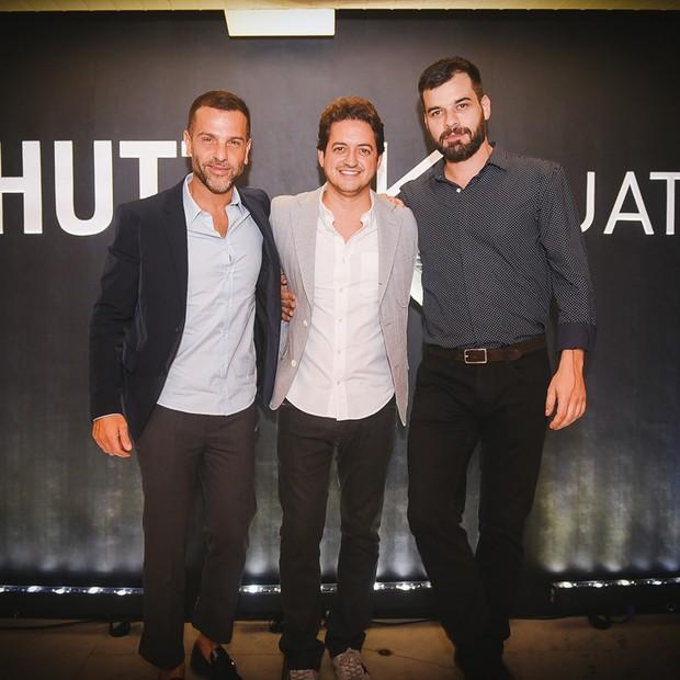 Alexandre Birman, Carlos Jereissati Filho e Facundo Guerra (Foto: André Ligeiro)