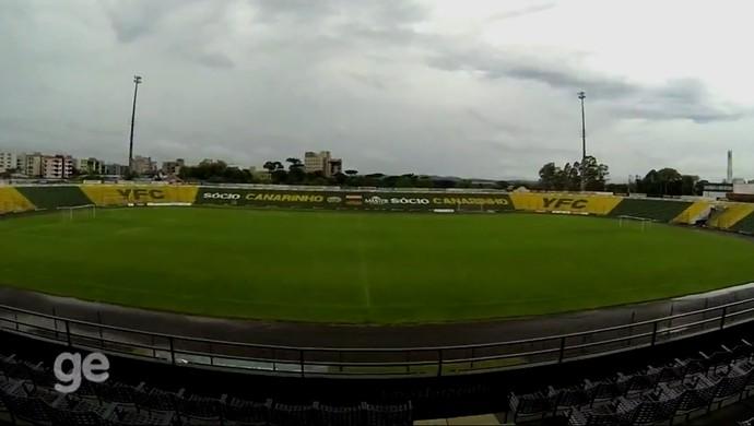 Colosso da Lagoa estádio Ypiranga (Foto: Reprodução / RBS TV)