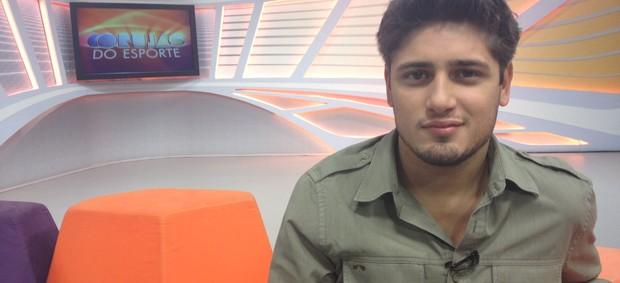 Daniel Rocha no Corujão do Esporte (Foto: Júlia Pecci/ Globoesporte.com)
