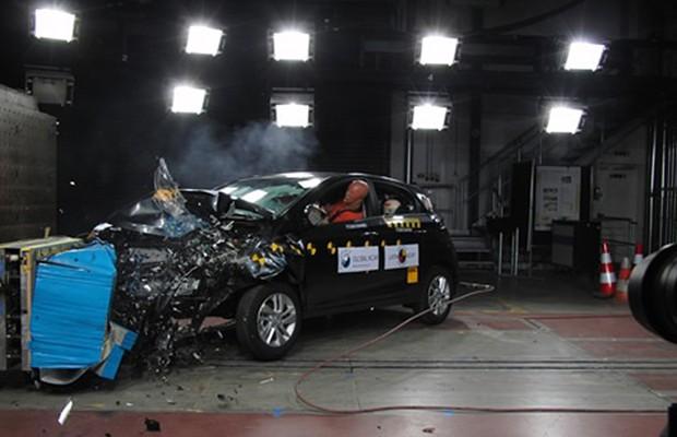 Crash test do Hyundai HB20 no Latin NCAP (Foto: Divulgação)