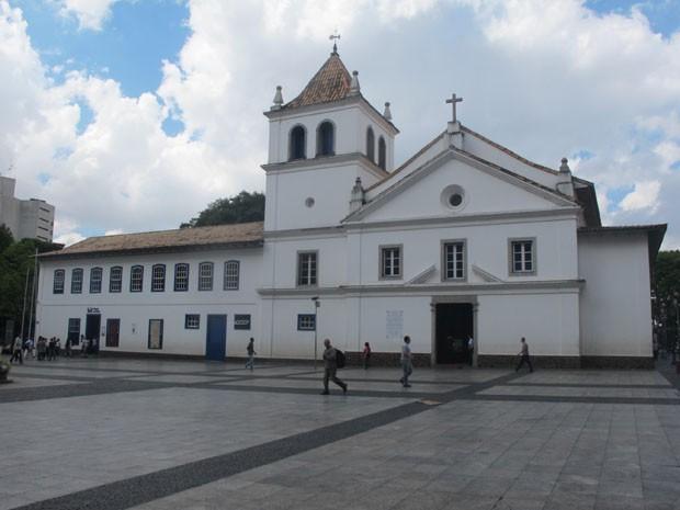 Pateo do Colégio hoje em dia: local de nascimento de São Paulo (Foto: Paulo Toledo Piza/G1)