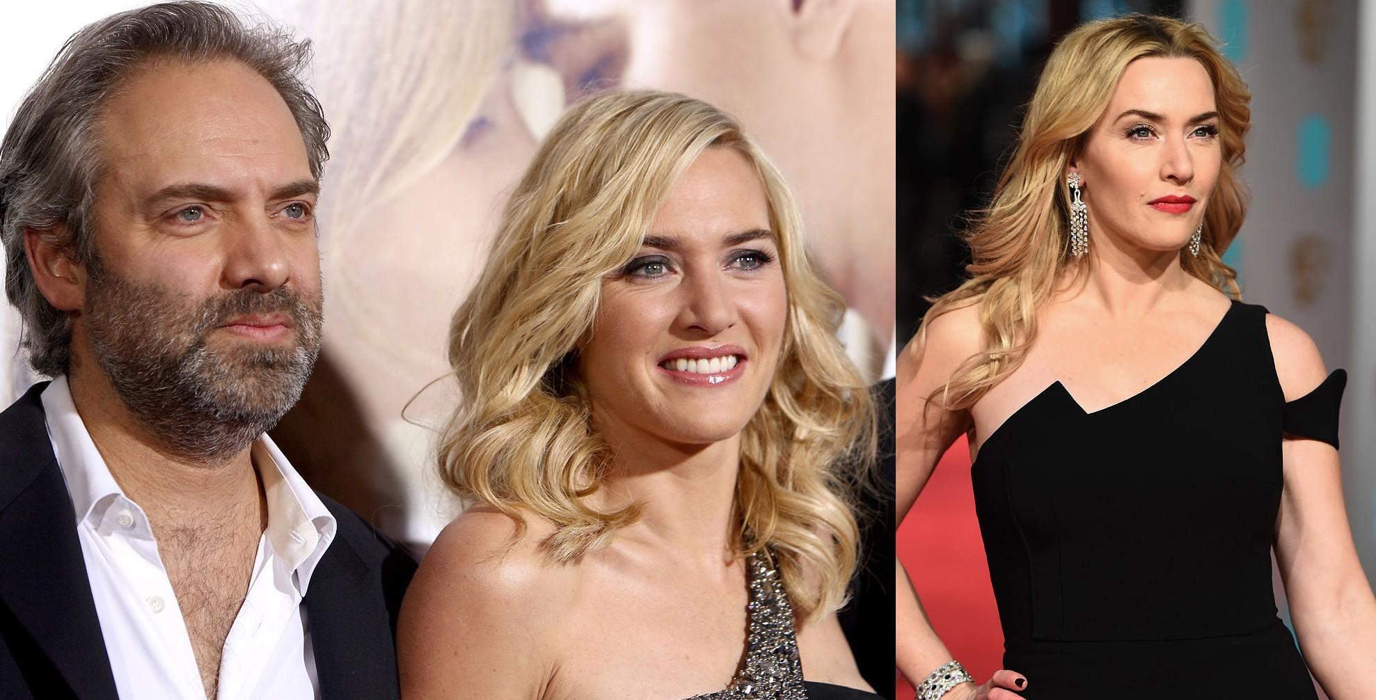 Kate Winslet e Sam Mendes em 2008 e Kate Winslet em 2016 (Foto: Getty Images)