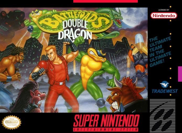 Crossover entre Battletoads e Double Dragon foi lançado para SNES e Mega Driver (Foto: Reprodução/Retro Gaming)