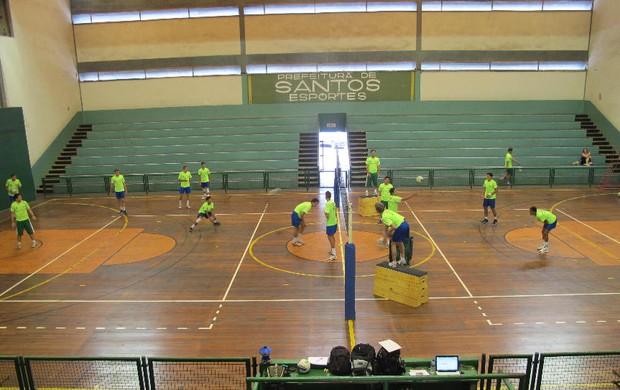 ANDEE Santos treino vôlei masculino (Foto: Bruno Gutierrez / Globoesporte.com)