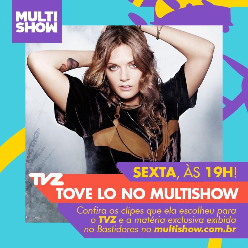 Tove Lo preparou uma playlist especial para o TVZ desta sexta-feira (7) (Foto: Multishow)