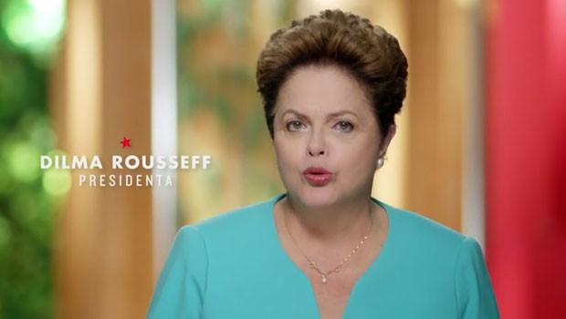 Imagem do primeiro programa eleitoral de Dilma no segundo turno
