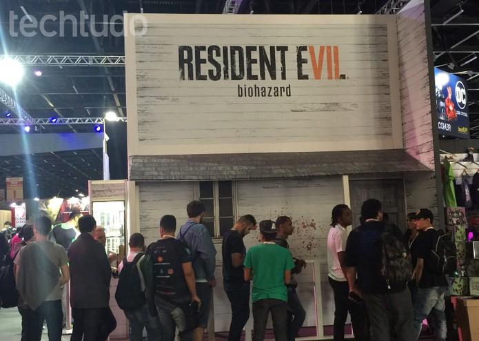 Nova demo de Resident Evil 7 está disponível na BGS 2016 (Foto: Diego Borges/TechTudo)