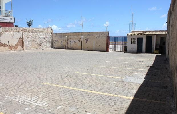 Estacionamento da Transalvador na Barra (Foto: Bruno Rocha/Transalvador)