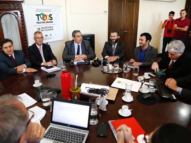 Missão ampliada da equipe econômica da União permanecerá três dias no estado (Foto: Daniela Barcellos/Palácio Piratini )