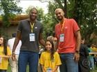 Atletas olímpicos brasileiros encontram elenco da Globo no Projac