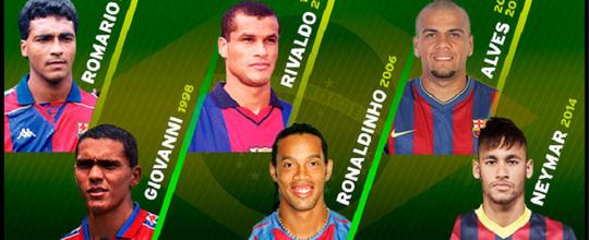 Barcelona homenageia jogadores brasileiros que representaram o clube nas Copas do Mundo (Reprodução / Barcelona)