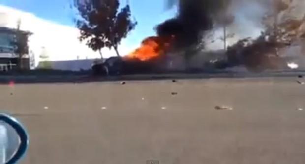 Vídeo do momento do acidente que matou Paul Walker (Foto: Reprodução / Youtube)