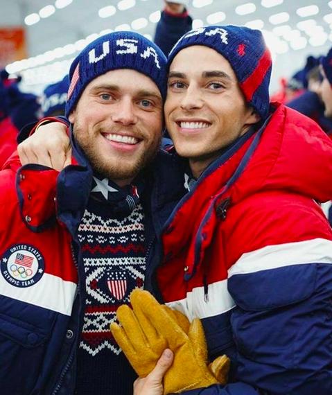 O esquiador Gus Kenworthy e o patinador Adam Rippon (Foto: Instagram)