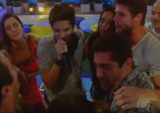 Luan Santana  no BBB12 (Foto: BBB / TV Globo)