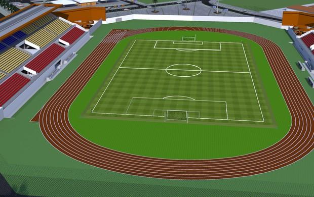 Projeção mostra como ficará Canarinho após a reforma. (Foto:  Foto: divulgação)