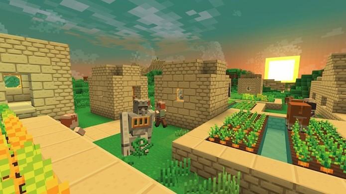 Existem vários pacotes de recursos oficiais e feitos por fãs que deixam Minecraft com visual de desenho animado (Foto: Reprodução/MinecraftDL)