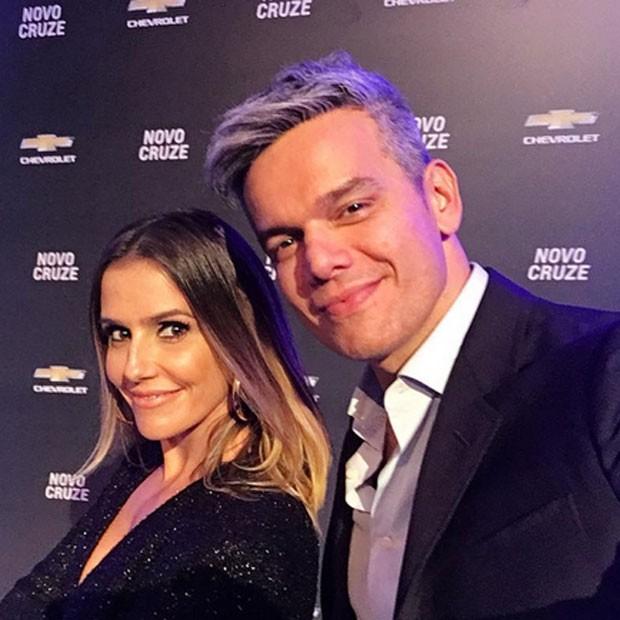 Deborah Secco e Otaviano Costa em evento em Brasília (Foto: Instagram/ Reprodução)