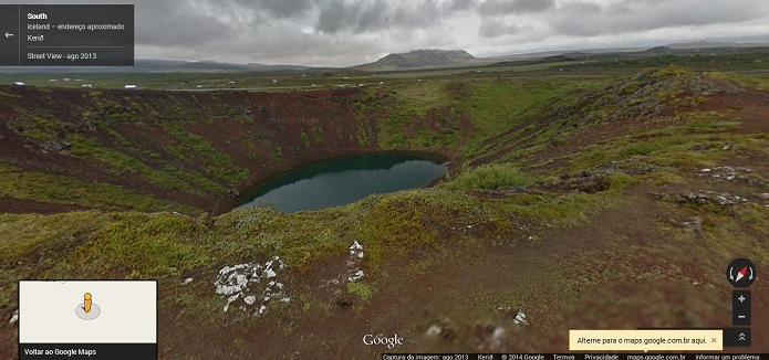 Street View mostra belezas da Islândia (Foto: Reprodução/Thiago Barros)