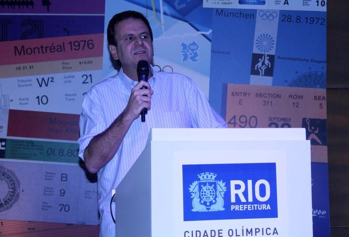 Eduardo Paes evento 100 dias Olimpíadas (Foto: JOSE LUCENA/FUTURA PRESS/ESTADÃO CONTEÚDO)