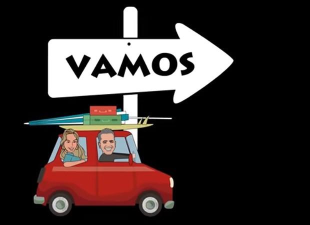 Claudia Leitte e Orlando Morais viram desenhos em clipe musical (Foto: Reprodução)