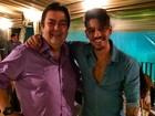 Fausto Silva recebe famosos em sua casa para festa de encerramento do 'Dança dos famosos'