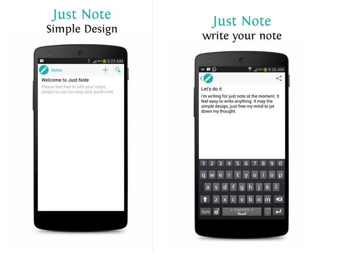 Just Note é um editor de texto para Android (Foto: Divulgação)