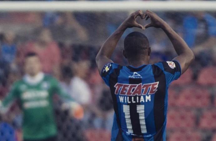 William da Silva comemora, Querétaro x Tijuana, Mexicano (Foto: Reprodução / Instagram)