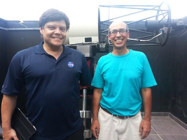 Astrônomos Cristóvão Jacques e João Ribeiro de Barros (Foto: Anna Lúcia Silva/ G1)