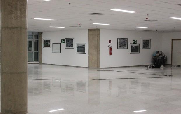 Estádio Mané Garrincha - área interna (Foto: Fabrício Marques / GLOBOESPORTE.COM)
