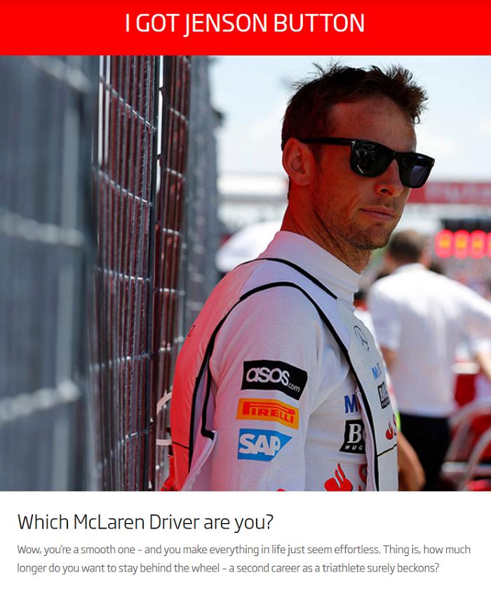 Qual piloto da McLaren você é? Jenson Button