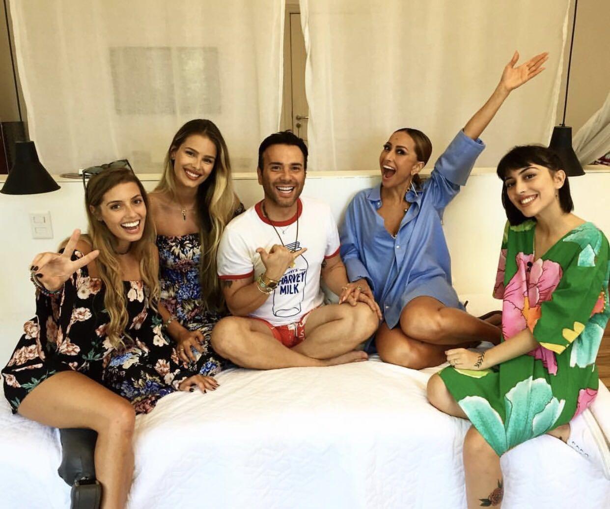 Paola Antonini, Yasmin Brunet, Mat, Sabrina e Manu Trindade (Foto: Divulgação)