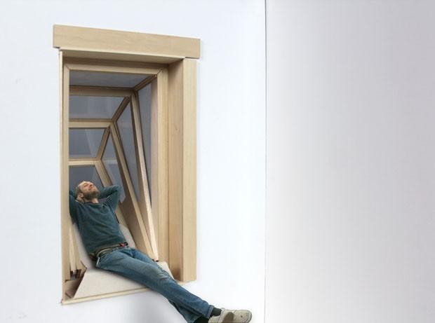 Janelas que permitem sentar e até deitar (Foto: Divulgação)