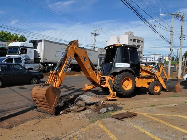 Obras começaram na segunda-feira (4) (Foto: Prefeitura de Chapecó/Divulgação)