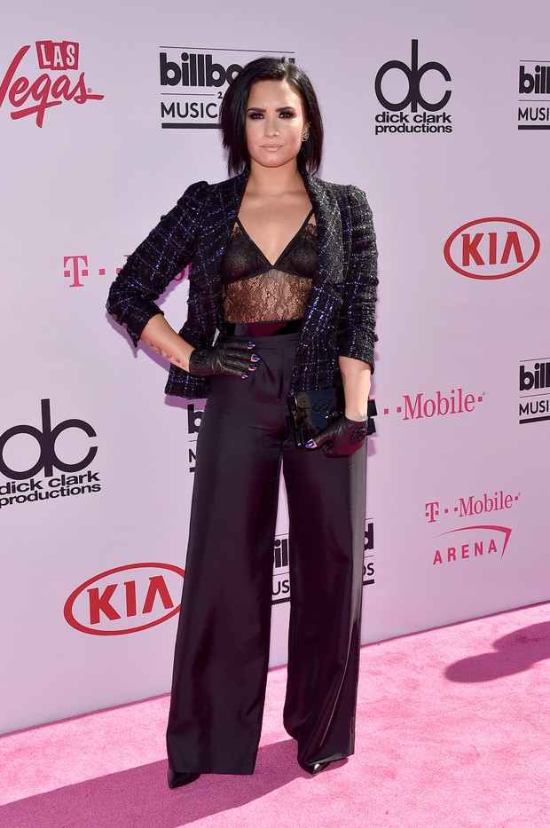 Demi Lovato no Billboard Music Awards (Foto: AFP)
