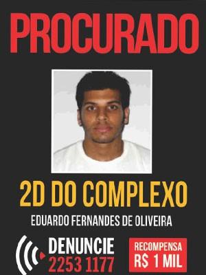 Informações sobre Duda D2 valiam R$ 1 mil (Foto: Divulgação / Disque-Denúncia)