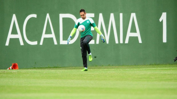 Fernando Prass treino Palmeiras (Foto: Marcos Ribolli / Globoesporte.com)