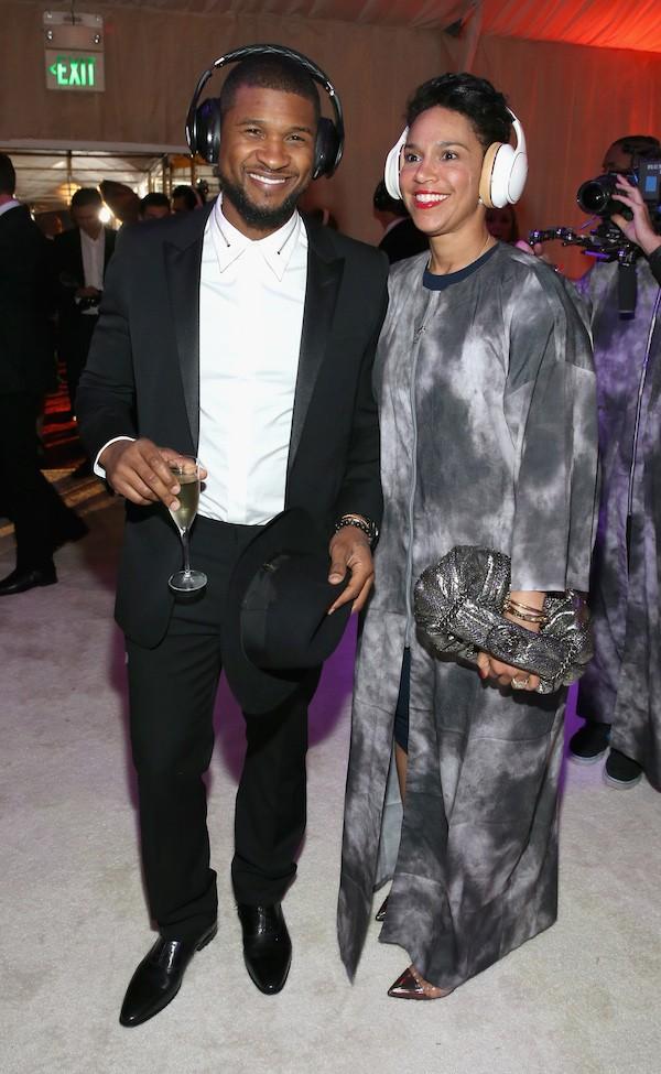 O rapper Usher com a atual esposa, Grace Miguel (Foto: Getty Images)