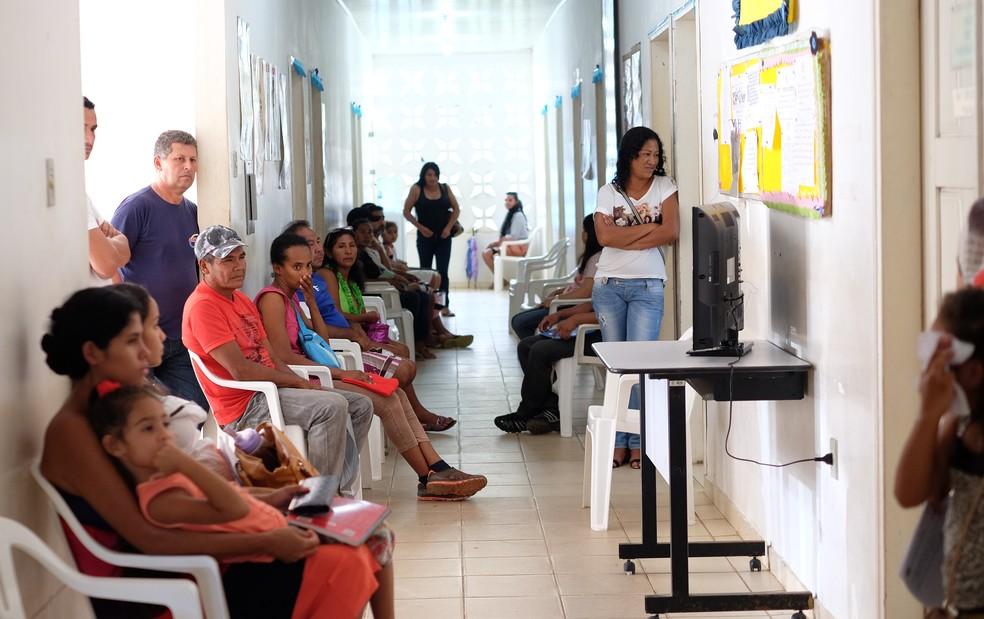 No posto de saúde na fronteira, venezuelanos representam 90% do público atendido (Foto: Inaê Brandão/G1RR)