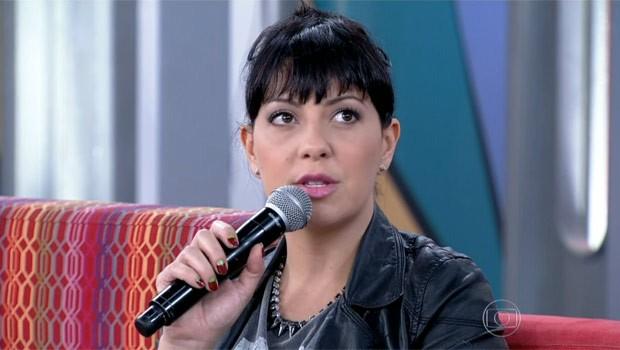 Fabíola Nascimento foi uma das convidadas do Encontro (Foto: Reprodução)
