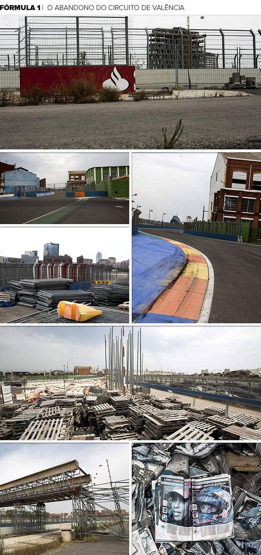 Mosaico - Fórmula 1 - O abandono do circuito de Valência (Foto: Editoria de Arte)